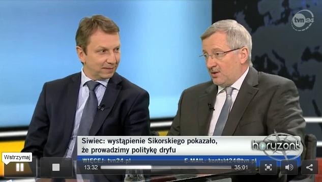 Andrzej Halicki i Marek Siwiec w programie Horyzont, 23.03.2013